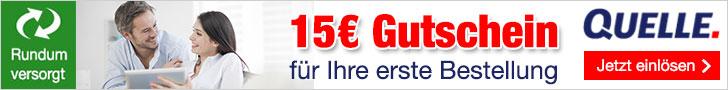 QUELLE Neukunden Gutschein15 EUR