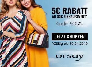 Orsay Gutscheincode 5 EUR
