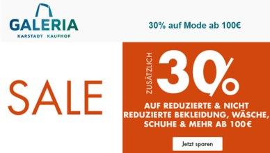 GALERIA.de 30% auf Mode ab 100€