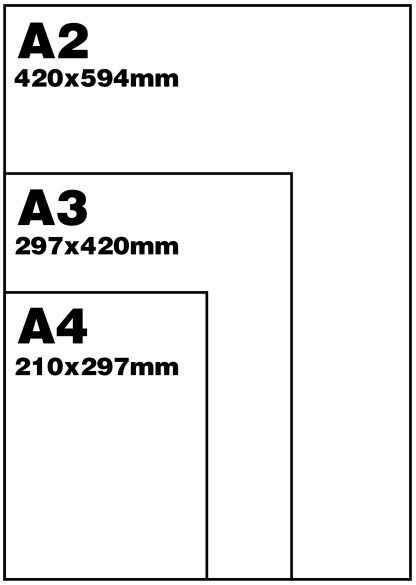 A4 A3 A2 size graphic