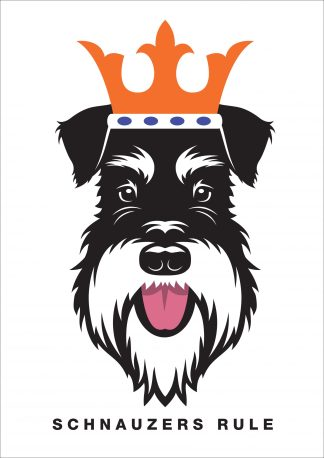 silver and black schnauzers rule poster