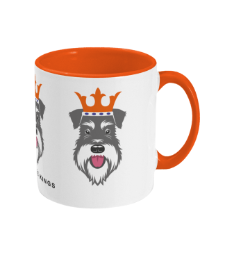Christmas mug with Salt & Pepper schnauzer face kings - right