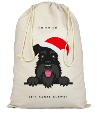 Santas sack-all black schnauzer