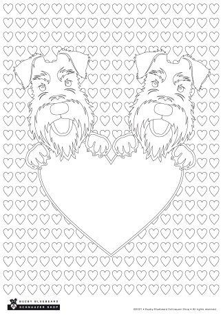 valentines hearts colouring sheet