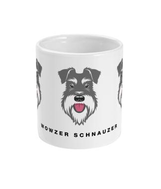 wowzer schnauzer mug salt and pepper centre view