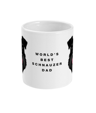 Mug best dad All Black centre side mockup