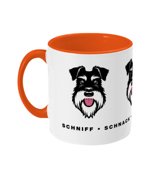a-dogs-day-mug-orange-silver-black-schnauzer left view