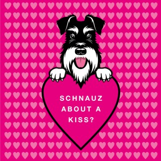 Schnauz about a kiss? silver and black
