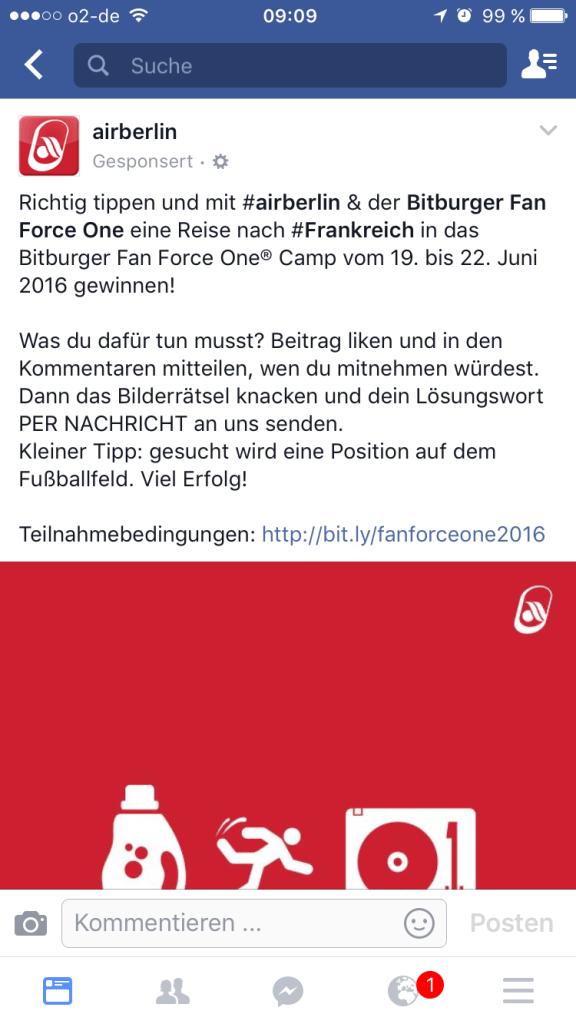 Airberlin Gewinnspiel Facebook