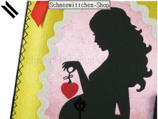 Schwangerschaft Mutterpass Hülle mit Kind in grau mit Kinderwagen-Anhänger