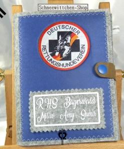 RHS Deutscher Rettungshundeverein DRV Bayerwald XXL Hülle für das Dienstbuch