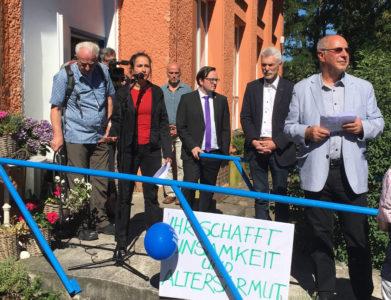 Demo in Erkner: GefAS braucht das Haus!
