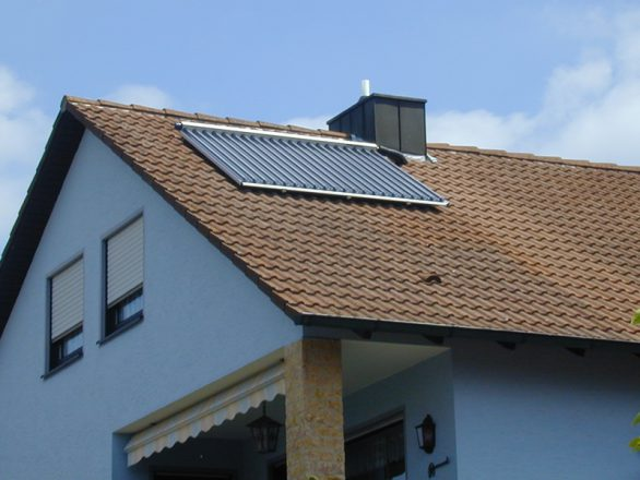 Vakuumröhren-Solaranlage-Retzbach