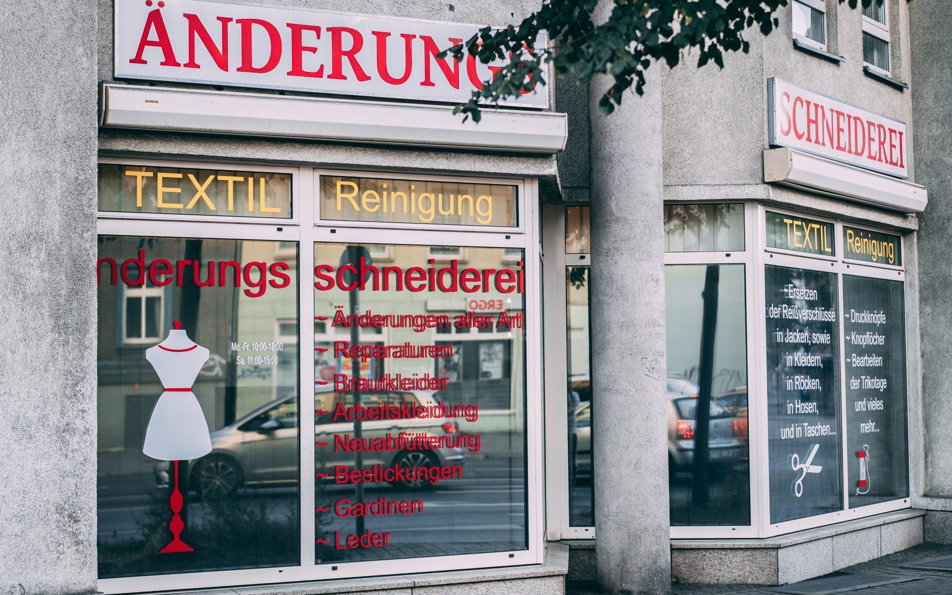Änderungsschneiderei Weißensee Berlin, Schneiderei Berliner Allee