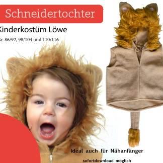 Schnittmuster / Kostüm Löwe nähen für Kinder