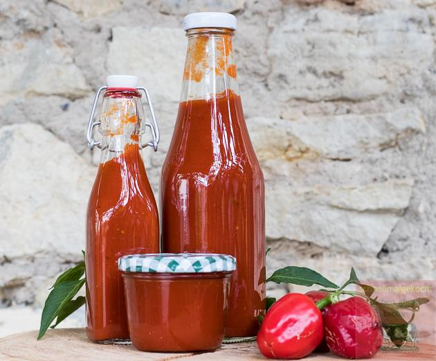 Serrano-Chili Ketchup