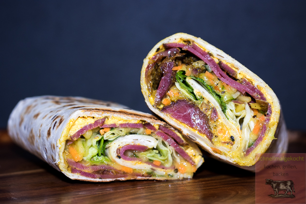 Curry Pastrami Wrap