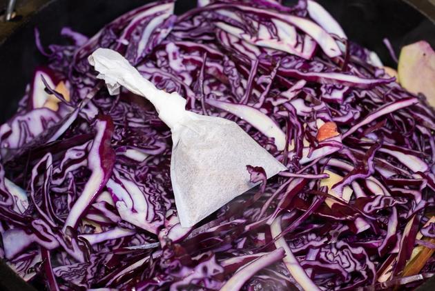 Rotkohl nach schnellmalgekocht