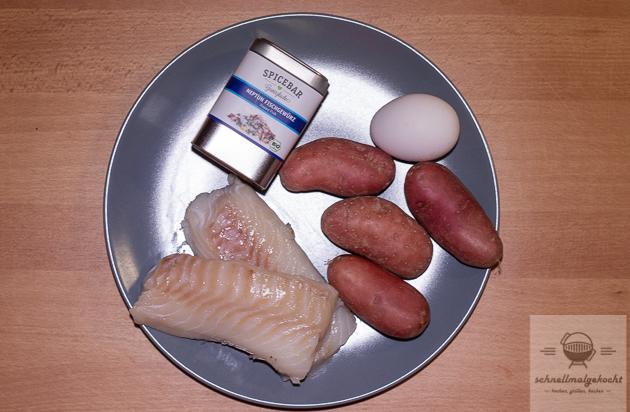 Kabeljau mit Kartoffelschuppen