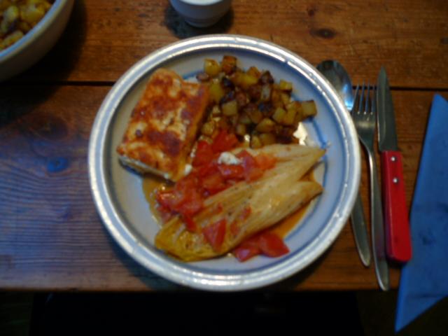 Chicoree,Kartoffeln,gebackener Feta (25)