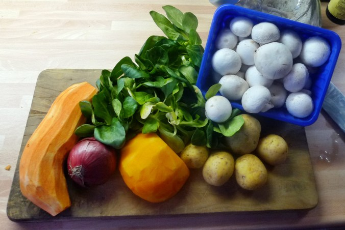 Kartoffelbrei,Pilze,Feldsalat - 21.2.15   (2)
