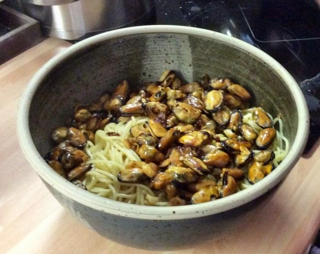 Spaghetti mit Muscheln -20.9.15 (4)