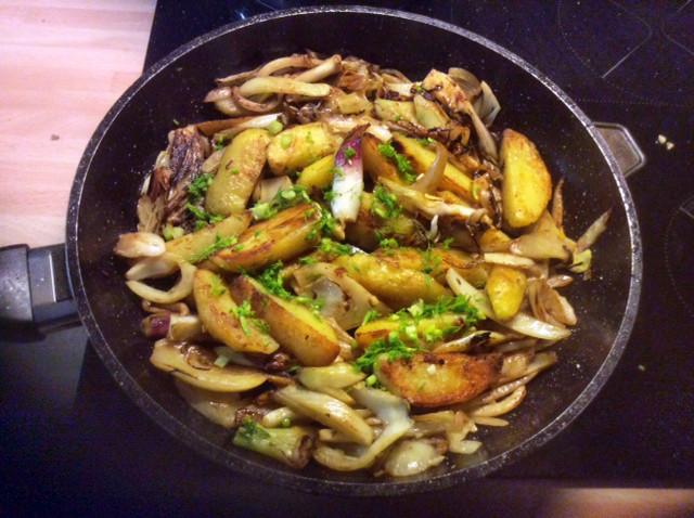 20.2.16 - Fenchel,Zwiebel,Kartoffel,Salat,vegan, (2)