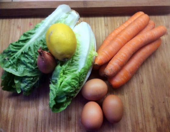 23.2.16 - Kartoffeltaler,Salate,pochiertes Ei,vegetarisch (2c)