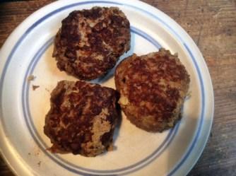 11.3.16 - Rührei mit Babyspinat,Champignons,kartoffeln,Frikadellen, (6)