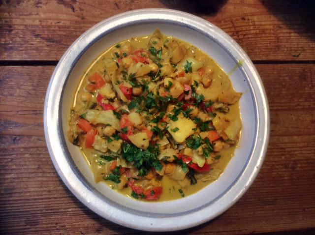 12.3.16 - Kichererbsen-Gemüse Eintopf,Indische Art,vegan (13)