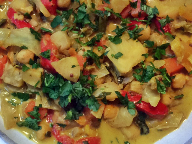 12.3.16 - Kichererbsen-Gemüse Eintopf,Indische Art,vegan (14)