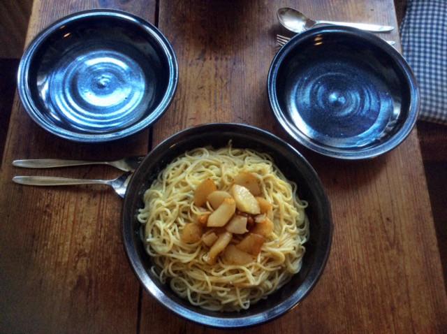 17.3.16 - Spaghetti mit Gorgonzolasauce,Chiccore Salat (2)