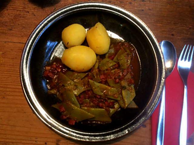 22.3.16 - Bohnen,Kartoffeln,Quarkspeise (2)