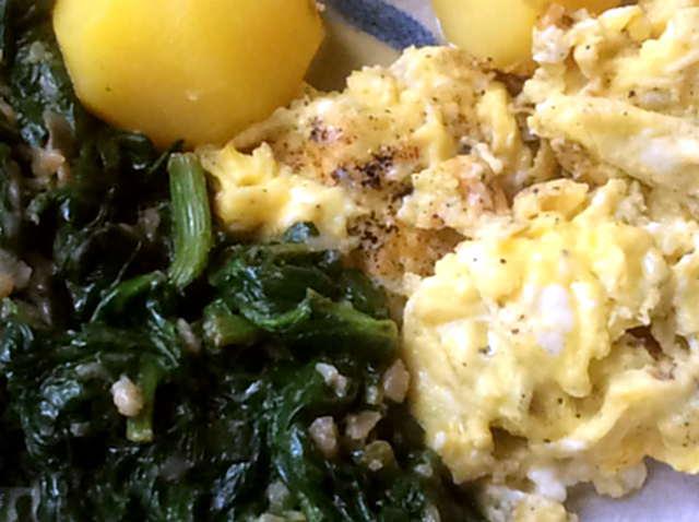 24.3.16 - Spinat,Rührei,Kartoffel,vegetarisch (10)
