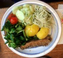11.4.16 - Brathering,Salate,Kartoffeln,pescetarisch (7)