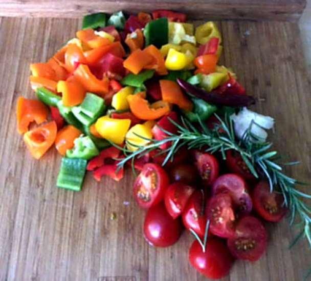 18.4.16 - Paprikapfanne,Joghurtdip,Kartoffeln,vegetarisch (3)