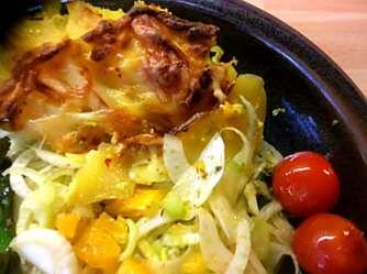 29.4.16 - Kartoffelgratin,grüner Spargel,Fenchelsalat (22)