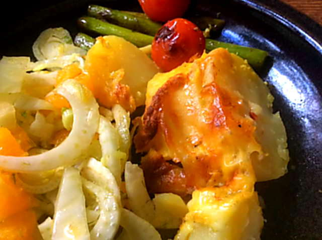 29.4.16 - Kartoffelgratin,grüner Spargel,Fenchelsalat (3)