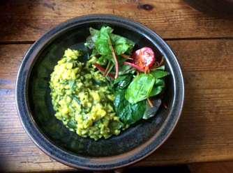 6.4.16 - Spinat Risotto,Salat,vegetarisch (17)