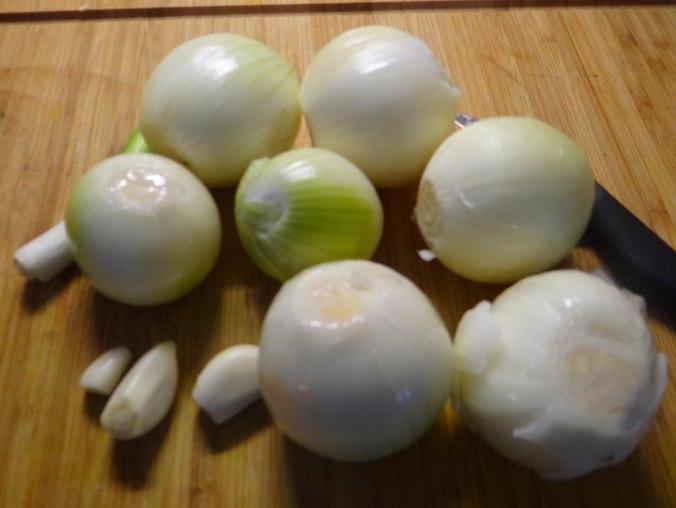 Zwiebelsoße,Klöße,Chicoreesalat (7)