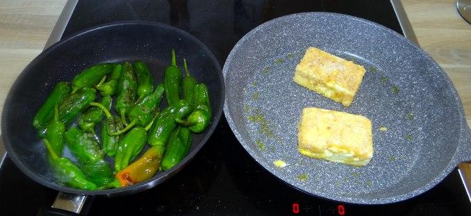 Gebackener Feta,Ofenkartoffel,Pimientos,Gurkensalat,Walleln (7)