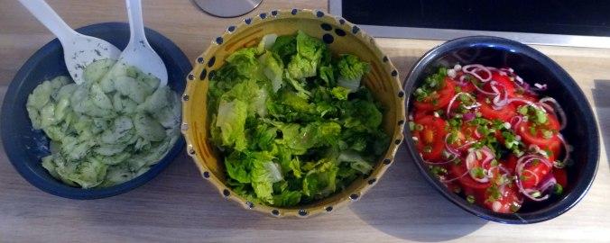 Basilikum Gnocchi mit Tomatensauce und Salaten (23)