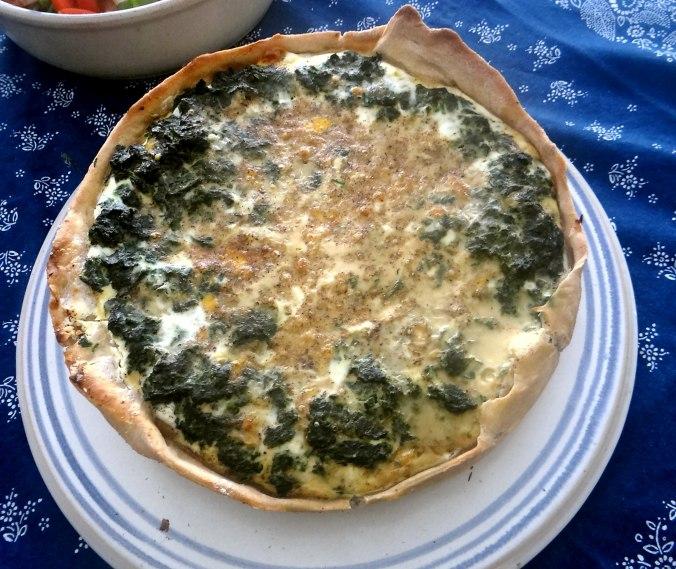 Brennessel Pizza- Quiche-Tarte,Tomatensalat(15)