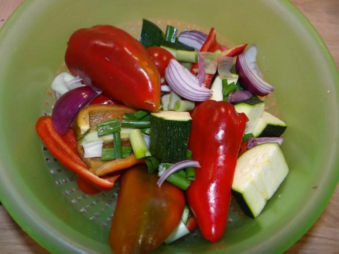 Ratatouille grob,Süßkartoffel Gratin,Obstsalat (8)