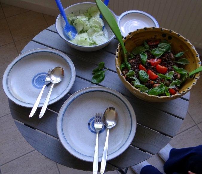 Muschel-Linsensalat,Gurkensalat,pescetarisch (4)