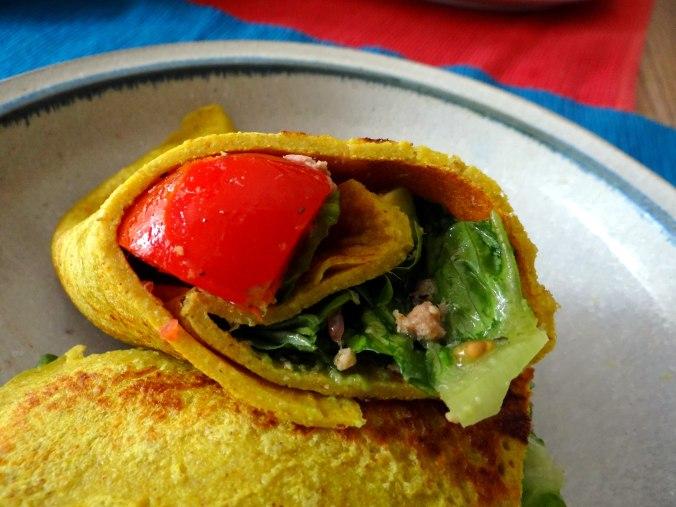 Buchweizen Pfannkuchen,Salat,pescetarisch (1)