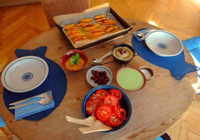 Orientalische Spezialitäten,Baba Ganoush,Süßkartoffel Pommes (4)