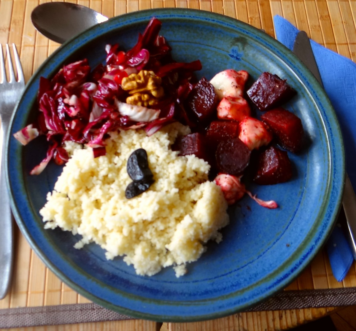 Rote Beete,Radicchio,Couscous