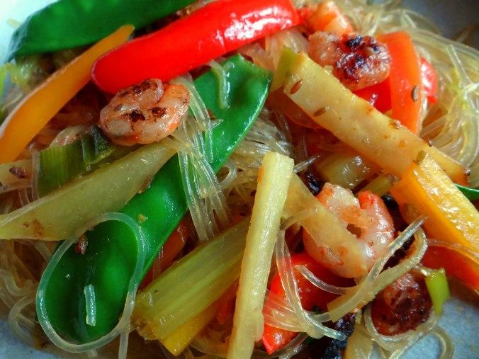 Asiatisches Gemüse mit Garnelen (3)