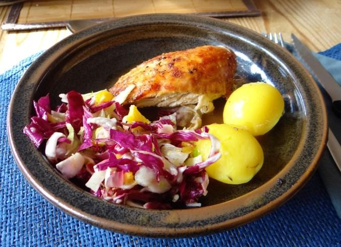 Biohähnchen mit buntem Salat (18)
